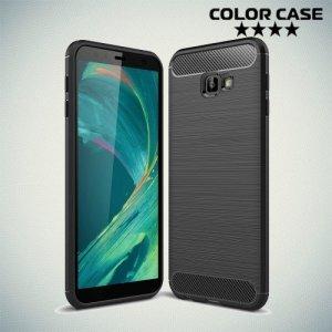 Carbon Силиконовый матовый чехол для Samsung Galaxy J4 Plus - Черный
