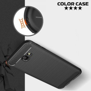 Carbon Силиконовый матовый чехол для Samsung Galaxy J4 Plus - Коралловый