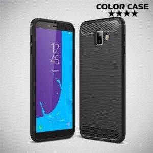 Carbon Силиконовый матовый чехол для Samsung Galaxy J6 Plus - Черный