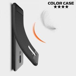 Carbon Силиконовый матовый чехол для Samsung Galaxy J8 2018 - Черный