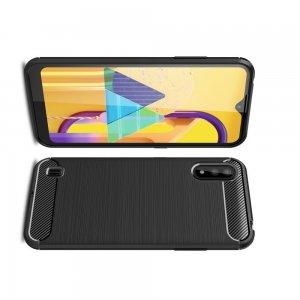 Carbon Силиконовый матовый чехол для Samsung Galaxy M01 - Черный