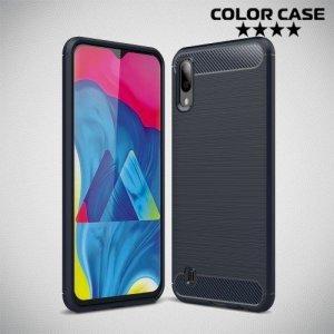 Carbon Силиконовый матовый чехол для Samsung Galaxy M10 - Синий