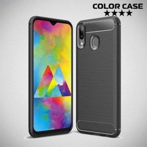Carbon Силиконовый матовый чехол для Samsung Galaxy M20 - Черный