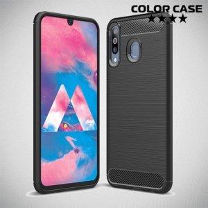 Carbon Силиконовый матовый чехол для Samsung Galaxy M30 - Черный