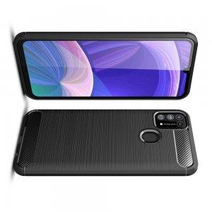 Carbon Силиконовый матовый чехол для Samsung Galaxy M31 - Черный
