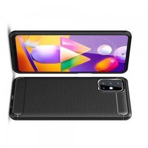 Carbon Силиконовый матовый чехол для Samsung Galaxy M31s - Черный