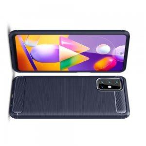 Carbon Силиконовый матовый чехол для Samsung Galaxy M31s - Синий