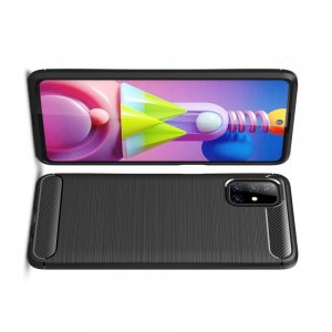 Carbon Силиконовый матовый чехол для Samsung Galaxy M51 - Черный