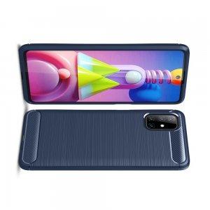 Carbon Силиконовый матовый чехол для Samsung Galaxy M51 - Синий