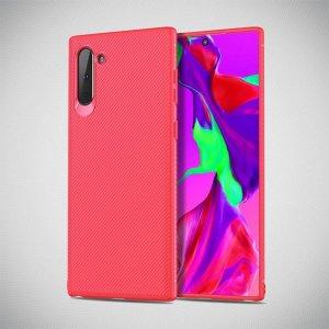 Carbon Силиконовый матовый чехол для Samsung Galaxy Note 10 - Коралловый
