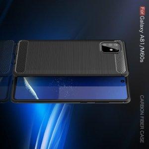 Carbon Силиконовый матовый чехол для Samsung Galaxy Note 10 Lite - Черный