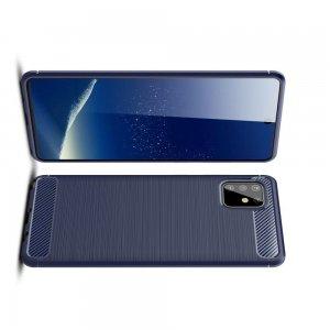 Carbon Силиконовый матовый чехол для Samsung Galaxy Note 10 Lite - Синий