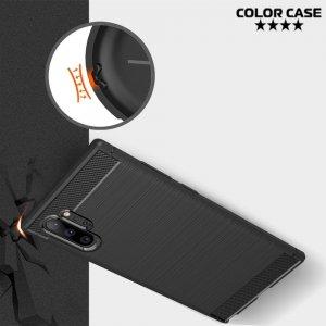 Carbon Силиконовый матовый чехол для Samsung Galaxy Note 10+ - Коралловый цвет