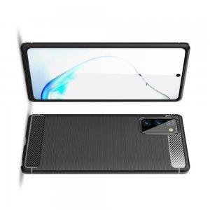 Carbon Силиконовый матовый чехол для Samsung Galaxy Note 20 - Черный