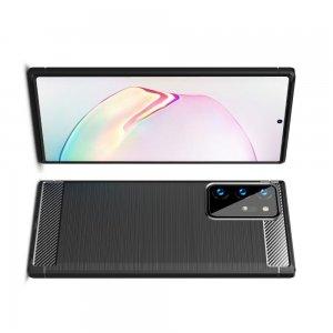 Carbon Силиконовый матовый чехол для Samsung Galaxy Note 20 Ultra - Черный
