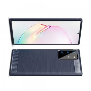 Carbon Силиконовый матовый чехол для Samsung Galaxy Note 20 Ultra - Синий