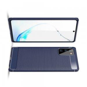 Carbon Силиконовый матовый чехол для Samsung Galaxy Note 20 - Синий
