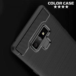 Carbon Силиконовый матовый чехол для Samsung Galaxy Note 9 - Черный
