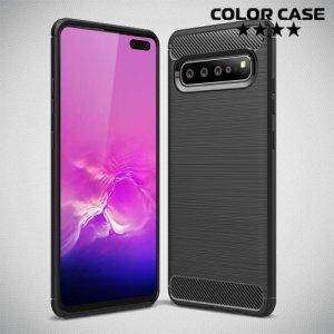 Carbon Силиконовый матовый чехол для Samsung Galaxy S10 5G - Черный