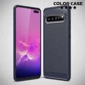 Carbon Силиконовый матовый чехол для Samsung Galaxy S10 5G - Синий