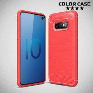 Carbon Силиконовый матовый чехол для Samsung Galaxy S10e - Коралловый