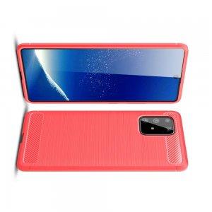 Carbon Силиконовый матовый чехол для Samsung Galaxy S10 Lite - Красный