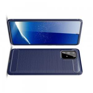 Carbon Силиконовый матовый чехол для Samsung Galaxy S10 Lite - Синий