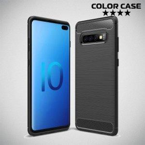 Carbon Силиконовый матовый чехол для Samsung Galaxy S10 Plus - Черный