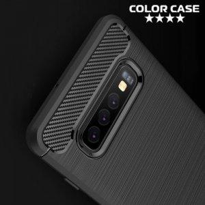 Carbon Силиконовый матовый чехол для Samsung Galaxy S10 Plus - Коралловый