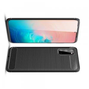 Carbon Силиконовый матовый чехол для Samsung Galaxy S20 - Черный