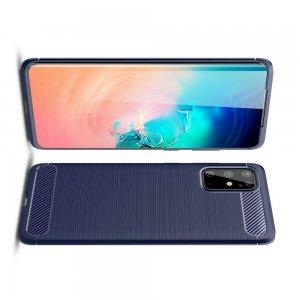Carbon Силиконовый матовый чехол для Samsung Galaxy S20 Plus - Синий