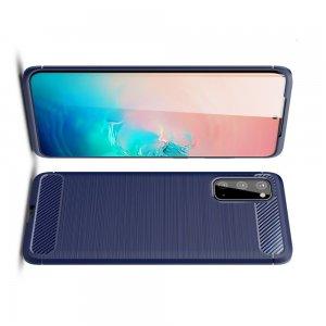Carbon Силиконовый матовый чехол для Samsung Galaxy S20 - Синий