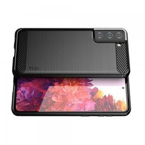 Carbon Силиконовый матовый чехол для Samsung Galaxy S21 - Черный