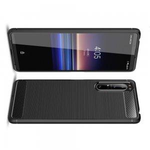 Carbon Силиконовый матовый чехол для Sony Xperia 1 II - Черный