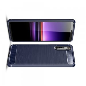 Carbon Силиконовый матовый чехол для Sony Xperia 10 II - Синий