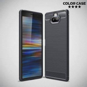 Carbon Силиконовый матовый чехол для Sony Xperia 20 - Черный