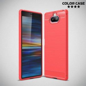 Carbon Силиконовый матовый чехол для Sony Xperia 20 - Коралловый