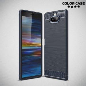 Carbon Силиконовый матовый чехол для Sony Xperia 20 - Синий
