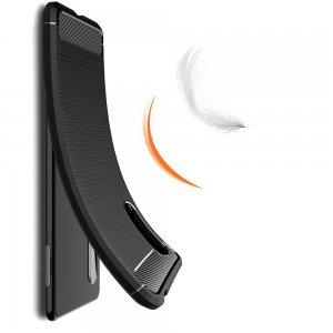 Carbon Силиконовый матовый чехол для Sony Xperia 5 II - Черный