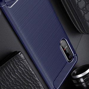 Carbon Силиконовый матовый чехол для Sony Xperia 5 II - Синий