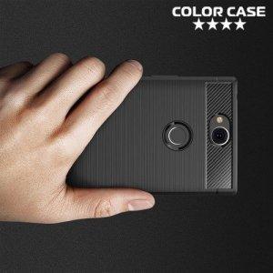 Carbon Силиконовый матовый чехол для Sony Xperia XA2 Plus - Черный