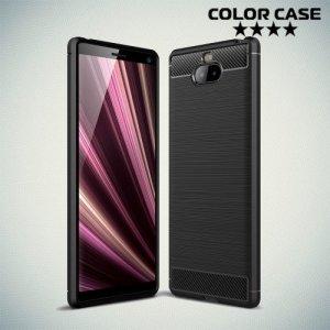 Carbon Силиконовый матовый чехол для Sony Xperia 10 - Черный