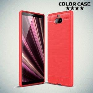 Carbon Силиконовый матовый чехол для Sony Xperia 10 Plus - Коралловый