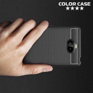 Carbon Силиконовый матовый чехол для Sony Xperia XA3 Ultra - Черный