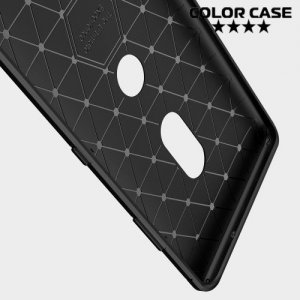 Carbon Силиконовый матовый чехол для Sony Xperia XZ3 - Коралловый