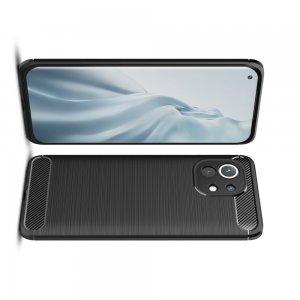 Carbon Силиконовый матовый чехол для Xiaomi Mi 11 - Черный