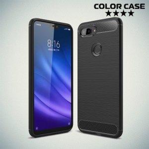 Carbon Силиконовый матовый чехол для Xiaomi Mi 8 Lite - Черный