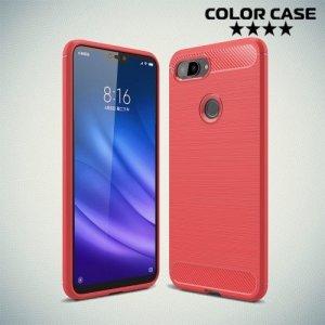 Carbon Силиконовый матовый чехол для Xiaomi Mi 8 Lite - Коралловый