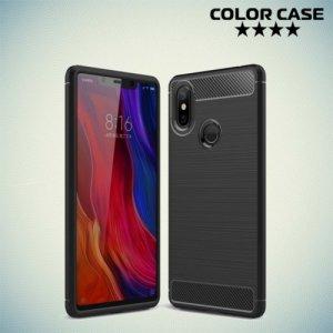 Carbon Силиконовый матовый чехол для Xiaomi Mi 8 SE - Черный