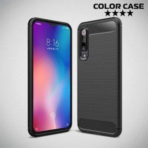 Carbon Силиконовый матовый чехол для Xiaomi Mi 9 SE - Черный